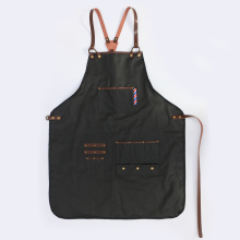 WEEYI Men Women Black Barber Aprons Waterproof Hairdressing Salon Apron With Leather Straps Drop Shipping Apron For Hairdresser