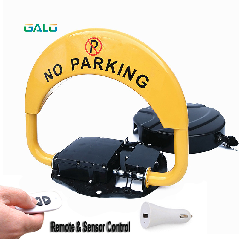 Low-cost Automatic Dual Battery Parking Lock Waterproof Private Villa Parking Lock Thickened Anti-collision Safety Seat Car Lock