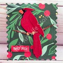 Molde de metal para scrapbooking, decorativo, pássaros vermelhos de natal