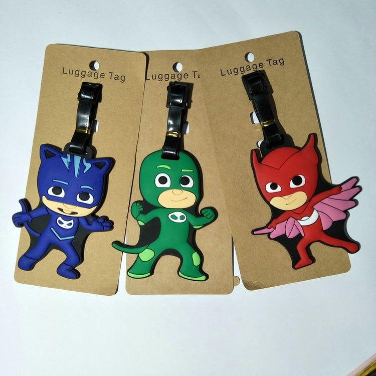 PJ Masks Suitcase Pendant Juguete Catboy Owlette Gekko Figures Keychain Christmas Halloween Pj Mask Birthday Gift Toys For Kid