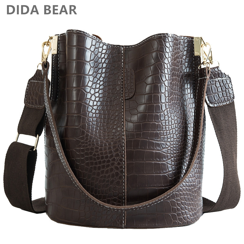 Crossbody-Bag Bucket-Bag Handbag Women Bags Crocodile Dida Bear Luxury Brand Designer title=
