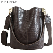 DIDA BEAR Crocodile Crossbody Bag For Women Shoulder Bag Bra