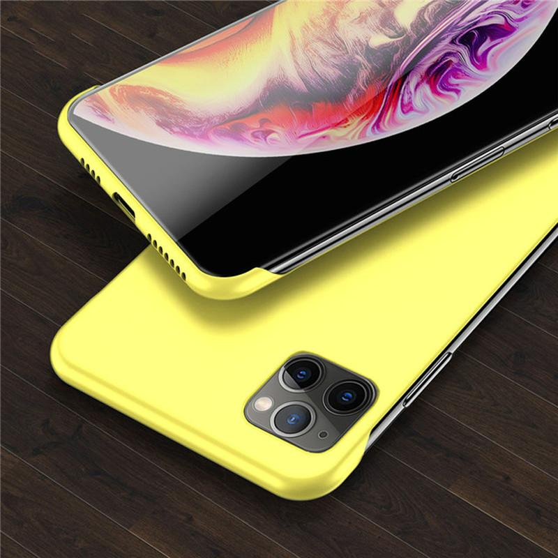 Lovebay Slim Scrub Hard PC Frameless Phone Case For iphone 11 6 6S 7 8 Plus XR X XS 11 Pro Max Solid Matte Cover Back Borderless image