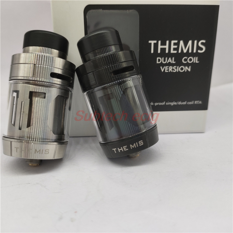 Themis RTA Atomizer Tank 5ml 27mm Support Mesh Wires Or Dual And Single Coil Fit GBOX Squonker E Cigarette Mod Vaporizer Vape