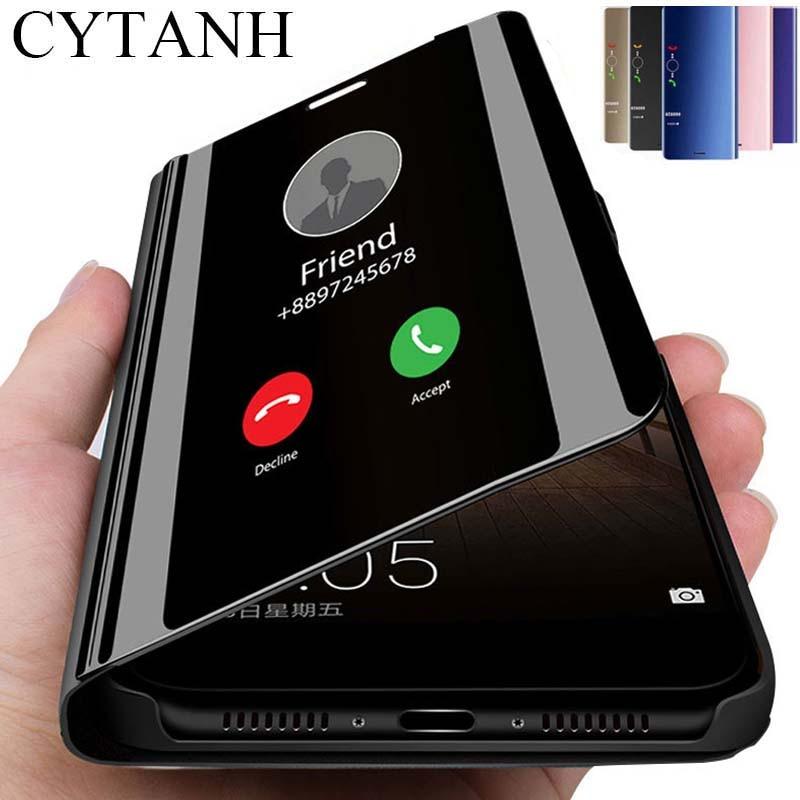 Honour 9s étui smart miroir étui à rabat pour Huawei honour 9s 2020 fundas sur honor9s s9 moa-lx9 support magnétique livre coque 5.45''
