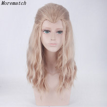 Blonde Brown Mix Curly Long Beauty Tip Widows Peak Synthetic Hair Cosplay Wigs The Avengers Thor Odinson Purim carnival props