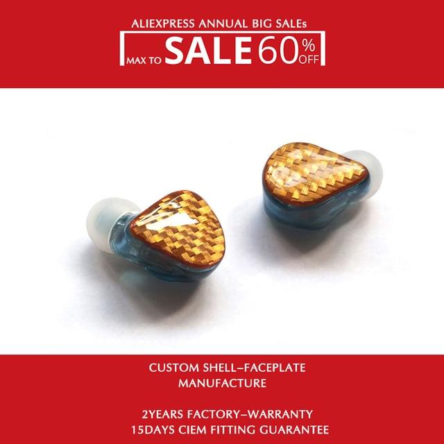 H6 소음 차단 이어폰 (와이어 포함) 1.2M MMCX 0.78mm 2 핀 분리형 1DD + 5BAs 무료 배송
