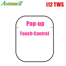 wholesale i12 Tws Wireless Bluetooth 5.0 Mini Earbuds Touch Control Earphones Headsets For Iphone Android PK i30 i60 i200 i500 i12 tws bluetooth earphone wireless earphones touch control earbuds 3d surround sound charging case for iphone android headset