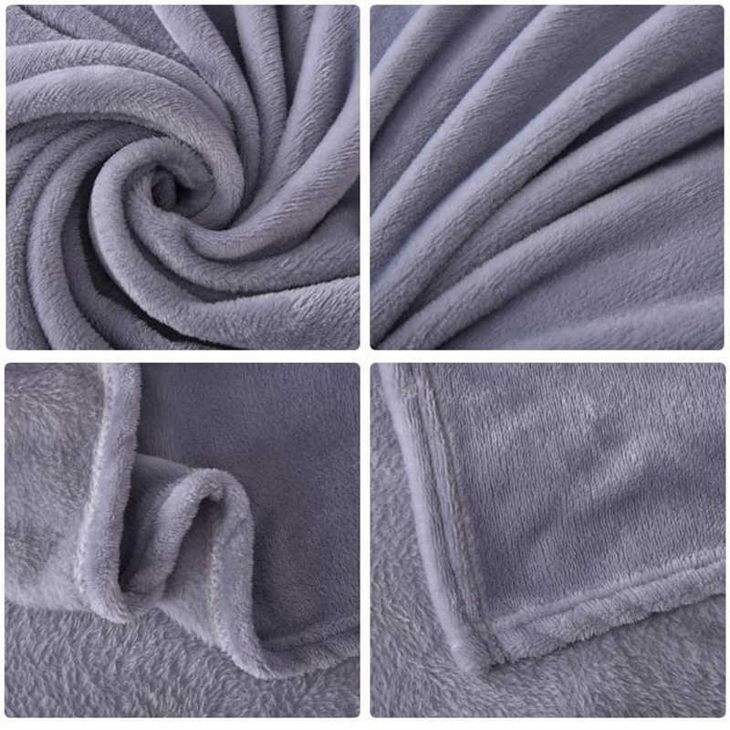 لينة الدافئة المرجان الصوف بطانية الشتاء ورقة المفرش غطاء أريكة رمي 6 حجم ضوء رقيقة الميكانيكية غسل الفانيلا البطانيات