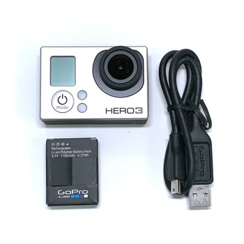 100% original for GoPro HERO3 Hero 3 Silver Edition adventure camera with battery and charging data cable 95% new