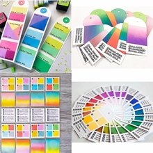 Color Swatches Metal Cutting Dies Color Swatches For Watercolors Die Cuts For Card Making DIY Scrapbooking New 2019 Crafts Cards