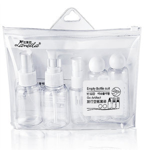 5pcs/Set Travel Mini Makeup Cosmetic Bottles Plastic Transparent Empty Eyeshadow Make Up Container Bottle