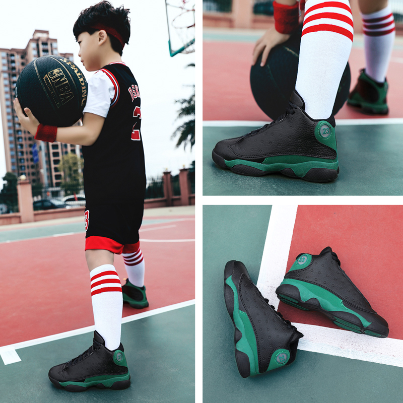 White Kids Basketball Shoes Men  Shoes Retro  13 Boots Women  Sneakers Uptempo Boys Children Outdoor Trainers