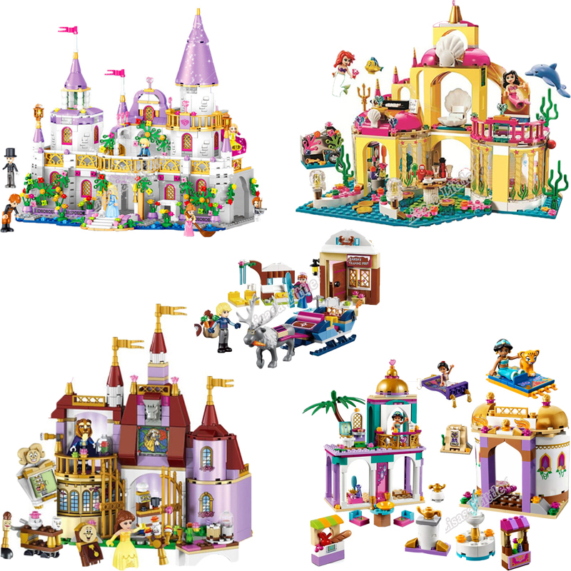 Girl Friends Princess Mermaid Ariel Undersea Palace Building Bricks Blocks Toy Legoinglys Christmas Gift For Girl