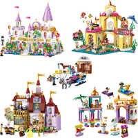 Girl Friends Princess Mermaid Ariel Undersea Palace Building Bricks Blocks Toy Legoinglys Christmas Gift For girl