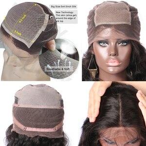 Image 5 - LUFFYHAIR Wellenförmige Brasilianische Remy Haar 5x 4,5 Seide Basis Volle Spitze Perücke 130% Dichte Menschliches Haar Natürliche Schwarze Gebleichte Knoten für Frauen