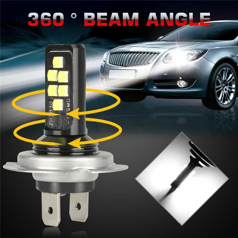 Mini canbus lampadah4 led h7 carro luz do farol alto baixo feixe 240w 52000lm 6000k kit lâmpada luzes de nevoeiro lâmpadas luzes