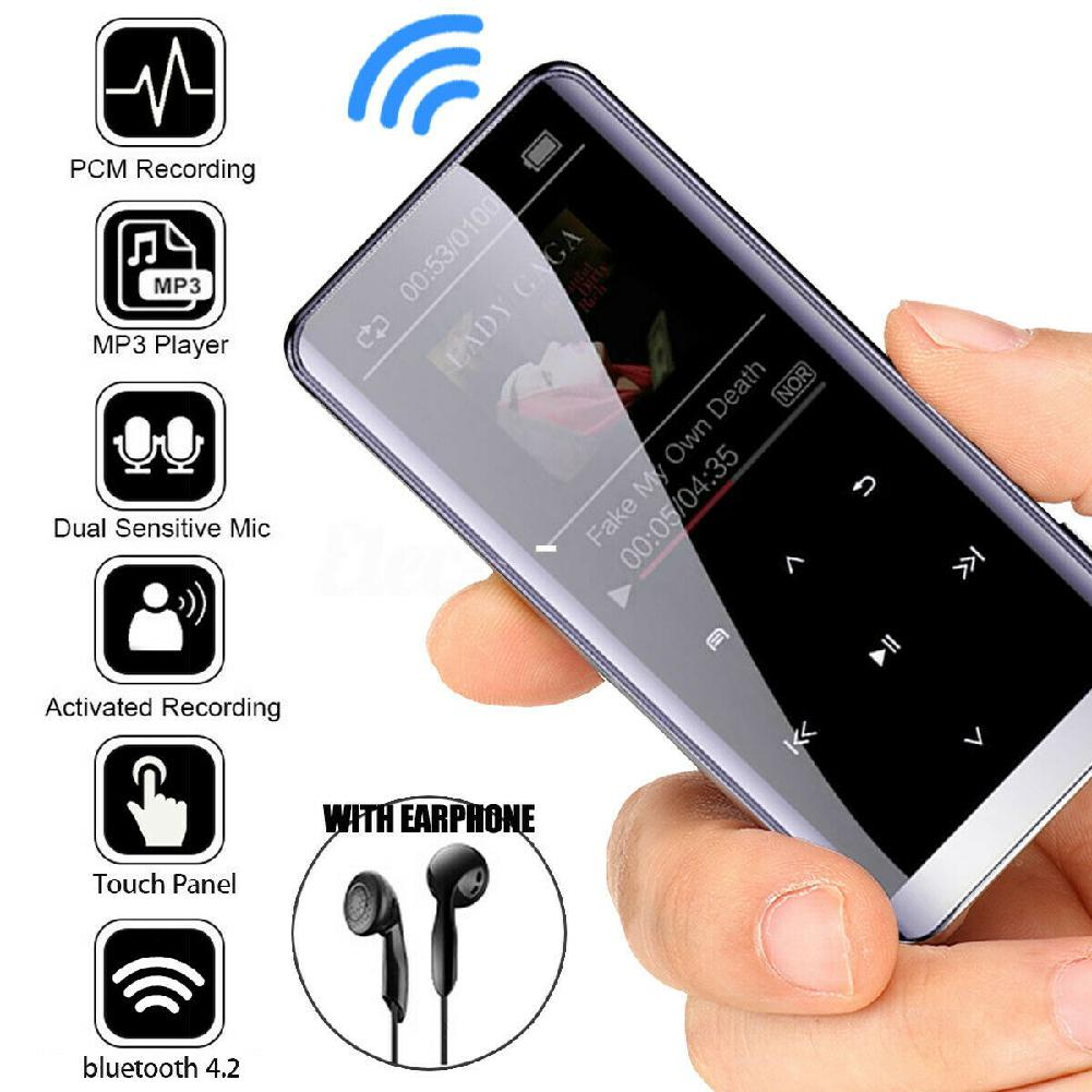 32G 16G 8G bluetooth MP3 Player Earphones HiFi fm Radio mini USB mp3 Sports MP 4 HiFi Portable Music Players Voice Recorder