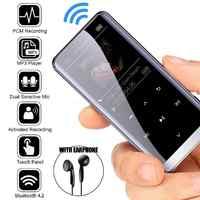 Bluetooth 4.2 mp3 player de música 32g 16g 8g mini portátil de alta fidelidade metal leitor de áudio suporte fm e-book reprodução de vídeo gravador de voz