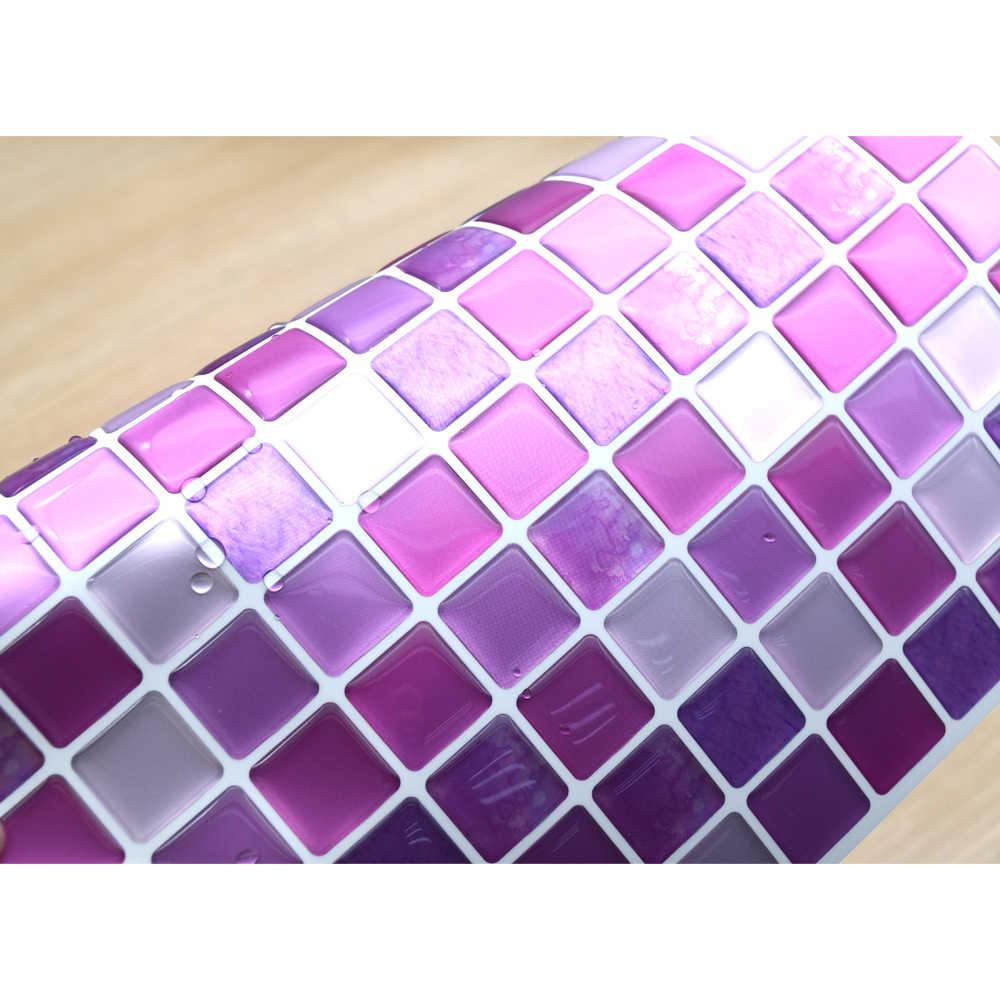 6 pz/lotto 3D mosaico Cucina Bagno Impermeabile Auto Adesivo piastrelle Della Parete Della Decalcomania Adesivo Mobile Buccia e Bastone Backsplash Del Vinile