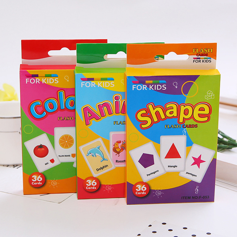 Children Education Toy Kids Recognition Color Animal Shape Teaching Card Early Learning Educational Toys