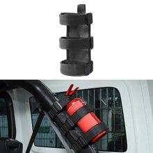 Держатель огнетушителя регулируемый ремень для крепления огнетушителя для 1987- Jeep Wrangler JK JL TJ CJ YJ(черный