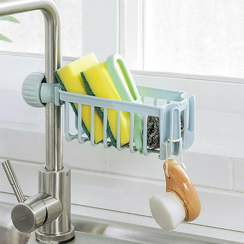 Faucet Rack Kitchen Storage Faucet Shelf Sponge Dish Cloth Finishing Rack Drain Rack Pool Rag Storage Rack