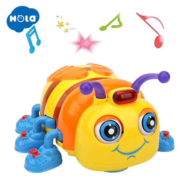 HOLA 82721 Musical Baby Toy For Toddlers 13-24 Months Electric Toy Early Learning Educational Crawling And Singing Bee Toys Gift