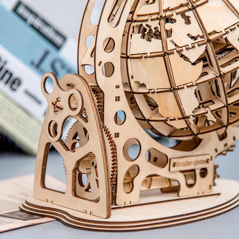 Mô Hình Bằng Gỗ Quả Cầu Thế Giới Trái Đất Đại Dương Bản Đồ Bóng Lắp Ráp Xếp Hình Đồ Chơi Quà Tặng Cho Trẻ Em Bé Trai