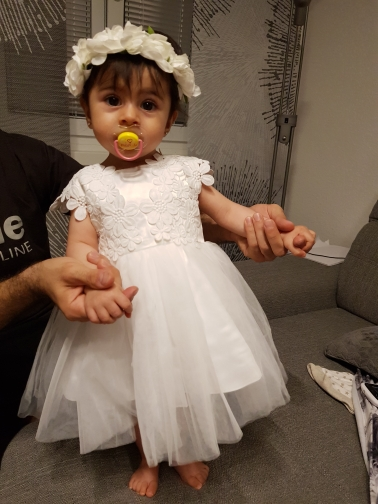 HAPPYPLUS Newborn Girl Baby Dress Summer Flower Baptism Dress Christening Infant 1 Year Birthday Dresses Wedding Party Easter
