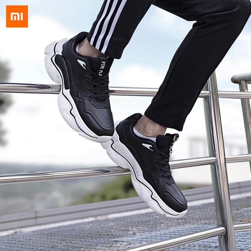 Xiaomi Mijia FINE PLAN tendance hommes chaussures anciennes en microfibre cuir léger grand fond antidérapant résistant à l'usure fond épais augmenter