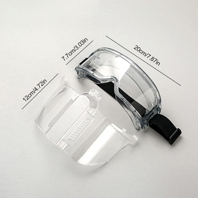 Transparent Protective Face Shield Safety Painting Face Protection Oil-Splash Saliva Proof Masks Separable Eyeglasses Eyepiece 5