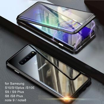 Funda magnética de Metal 360 para Samsung Galaxy S9 S8 S10 S20Plus...