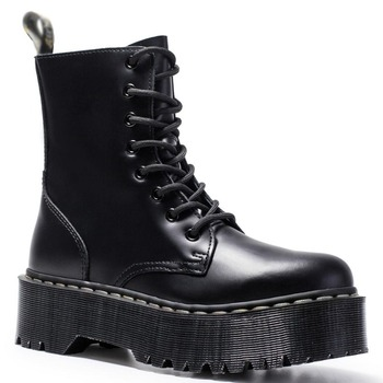 Women Winter Boots Genuine Leather Platform Boots Black Martens Ankle Boots Motorcycle Thick Heel Platform Boots Booties Heels aiyuqi winter ankle boots women 2020 new high heels women boots genuine leather wool fashion platform female office boots