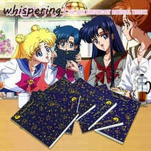 Diary Notebook Stationery Logo Anime Sailor Moon School-Supplies Girl Kids Gift Cartoon