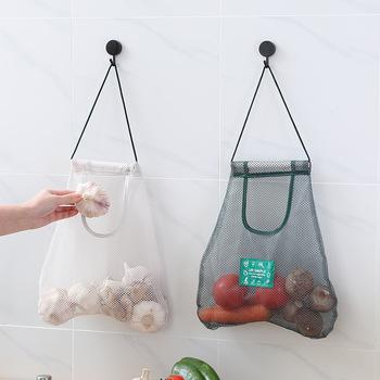 Kuchnia torby z siatki do przechowywania warzyw cebula torby do przechowywania ziemniaków torby wiszące Hollow oddychająca kuchnia czosnek imbir siatkowa torba tanie i dobre opinie CN (pochodzenie) Nowoczesne Dropshipping Breathable fruit and vegetable bag nylon about 21 grams as shown