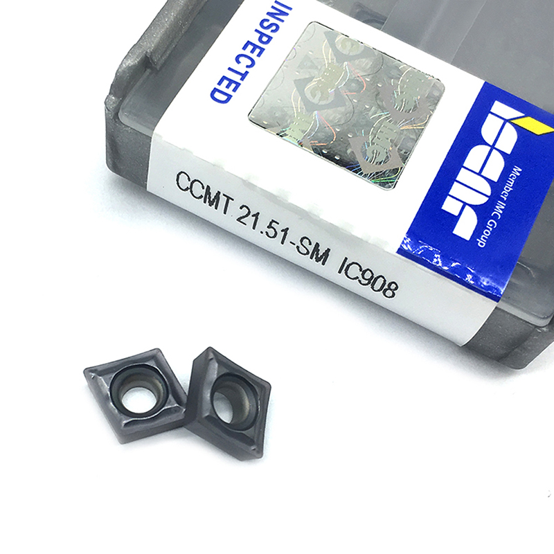 10PCS  CCMT060204 SM IC908  Internal Turning Tools CCMT 060204 Carbide Insert Lathe Cutter Tool Tokarnyy Turning Insert