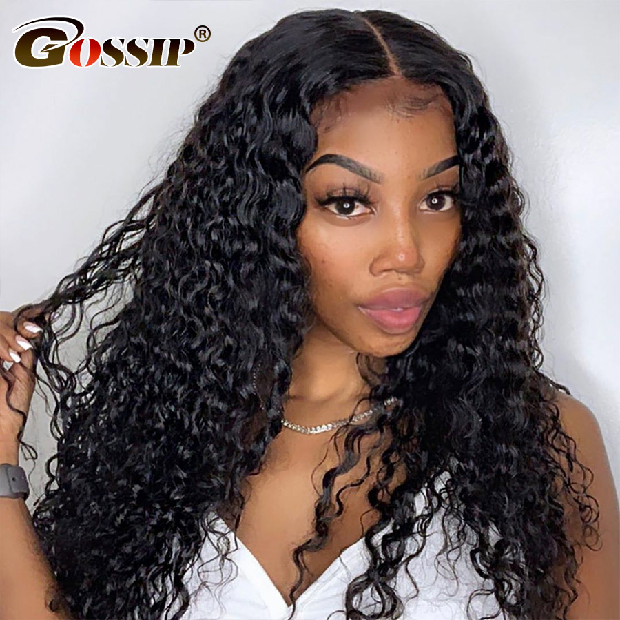 Glueless 360 Lace Frontal Wig Curly Human Hair Wig Lace Front Wig Pre Plucked With Baby Hair For Black Women Remy Water Wig Full