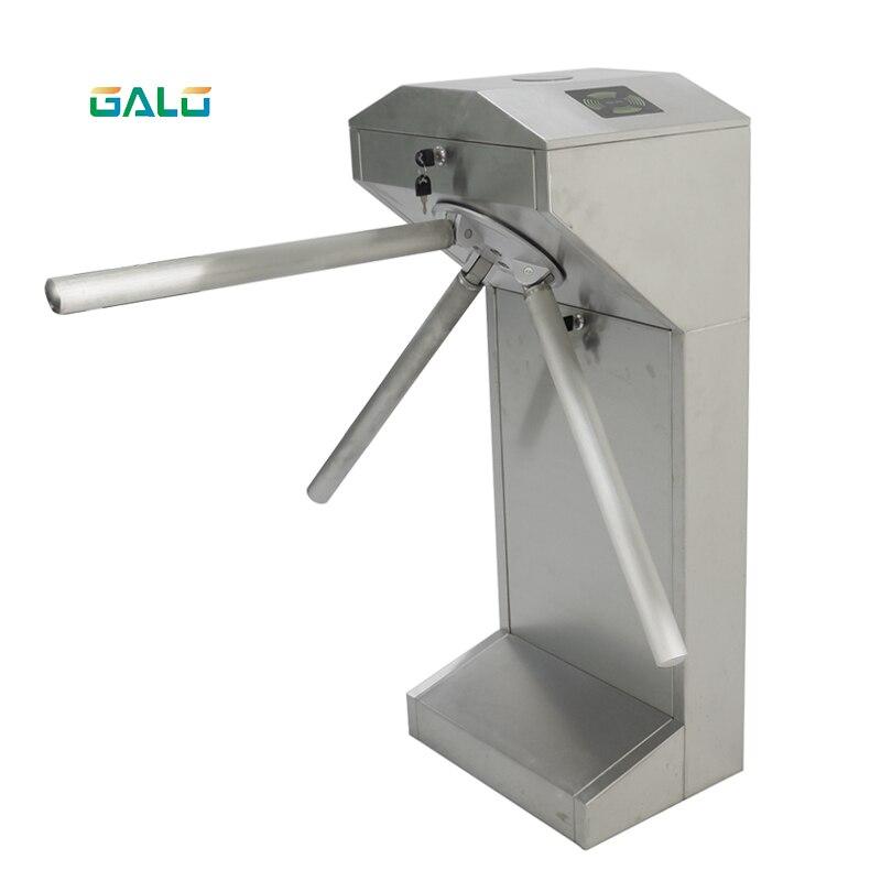 Factory Electric Semi-automatic Waist Height Turnstile Gate Vertical Tripod Turnstile RFID Control Center
