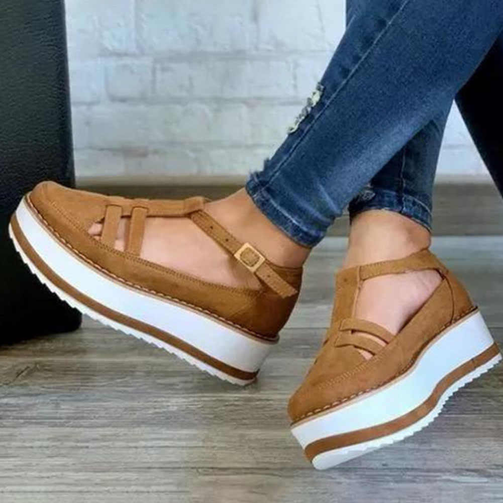 KarinLuna 2020 New Fashion Large Size 43 Women Boots Flat With Platform Round Toe Spring/Autumn Casual Woman Shoes