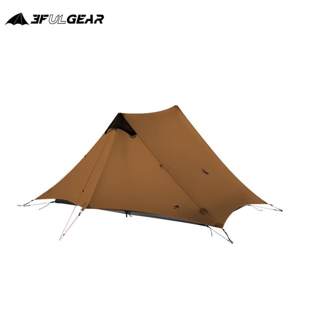 3F UL GEAR LanShan 2 2 인 야외 초경량 캠핑 텐트 3 시즌 프로페셔널 15D 실리콘로드 레스 텐트 4 시즌