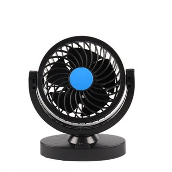 12/24V Double-headed Car Fan All-Round Portable Car Vehicle Truck Air Fan Adjustable Cooler Cooling Car Accessories image