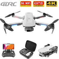 Dron con cámara profesional 4K, cuadricóptero plegable RC con Motor sin escobillas, transmisión de imagen de 2000m, GPS, 5G, HD, 4DRC F8, regalo