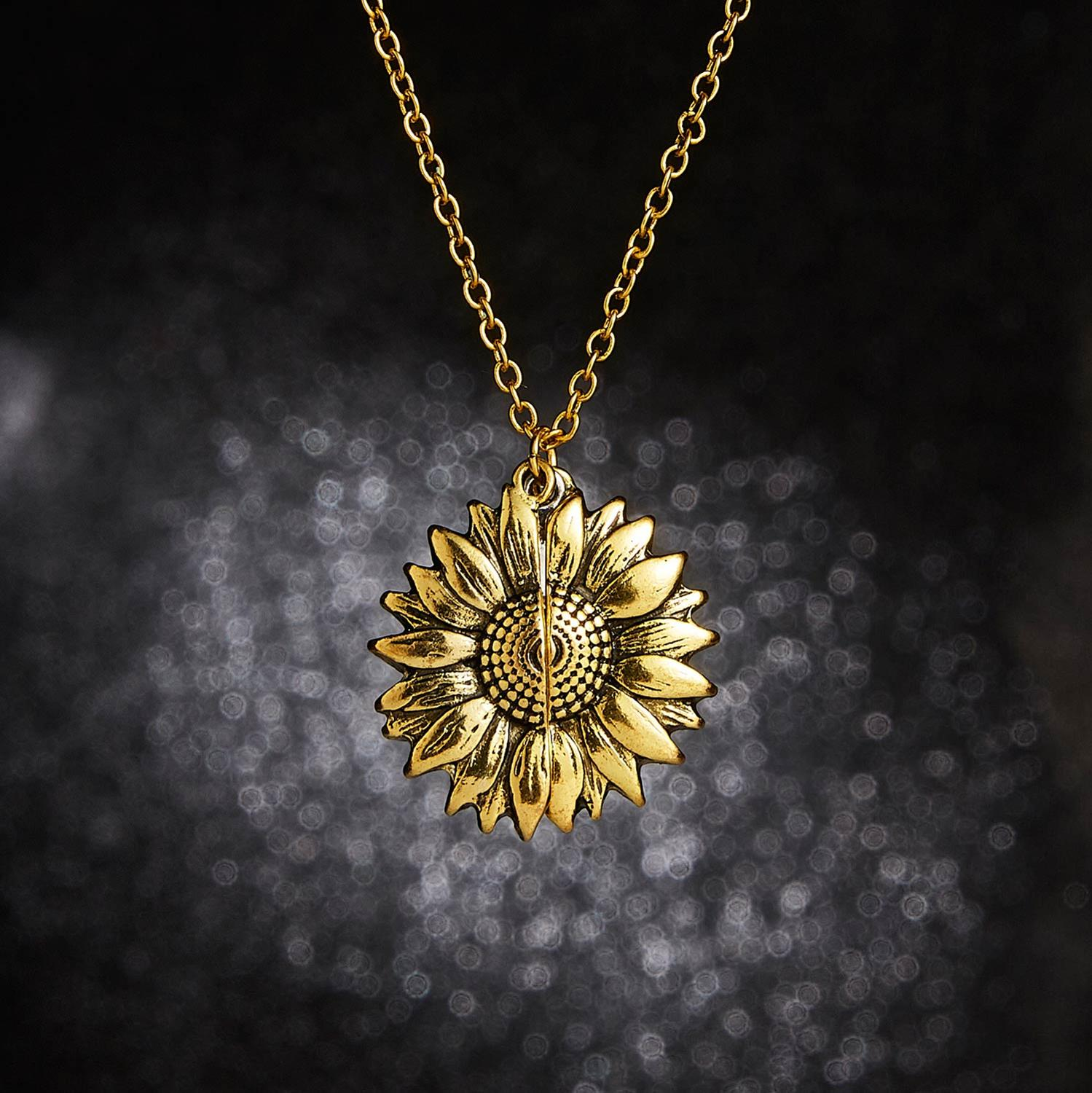 Sunflower Necklace | You Are My Sunshine Pendant 4