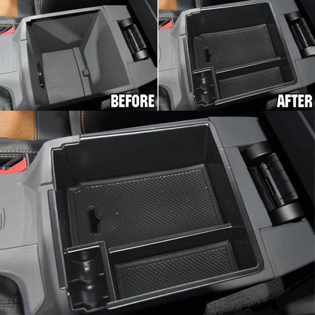 Car Central Armrest Storage Box For Ford Ranger Console Arm Rest Tray Holder Case Pallet 2012-2018