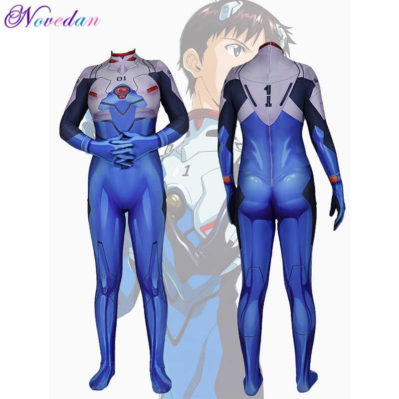 EVA Anime Cosplay Asuka Langley Soryu Ayanami Rei Shinji Ikari Mari Makinami Cosplay Kostüm Frauen Anime Body Zentai Anzug