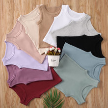 Fashion 2020 Unisex Top T-Shirts Summer Solid Color Baby Girls Boys Cotton Casual Kids T-Shirts Girls Sleeveless Clothes Outfits summer baby kids girls clothes 3d flower print sleeveless ruffle round neck pullover t shirts denim hole pants 2pc cotton set