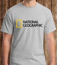 text12019 Hot Sale 100% cotton National Geographic Grey T-shirt S to 5XL Tee shirt oversize tshirt men