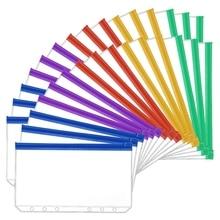 30Pcs A6 Size 6 Holes Binder Pockets Plastic Colorful Binder Zipper Folders for 6-Ring Notebook Binder Loose Leaf Bags