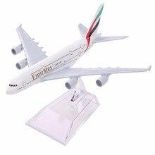 Air Emirates A380 Airline модель самолета Airbus 380 Airways 16 см металлический сплав модель самолета w Стенд M6-039 модель самолета